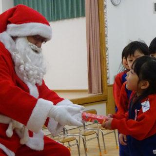 クリスマス会 サンタに会えたね!